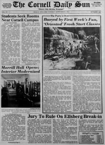 Cornell Daily Sun - 4 September 1973